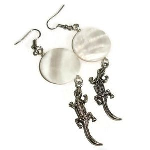 Alligator Earrings Shell Earrings